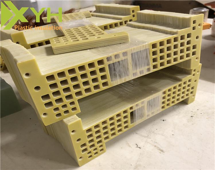 黄色环氧板雕刻打孔