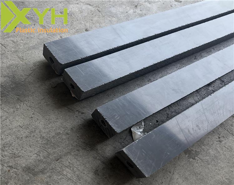 A级深灰色PVC侧边钻孔