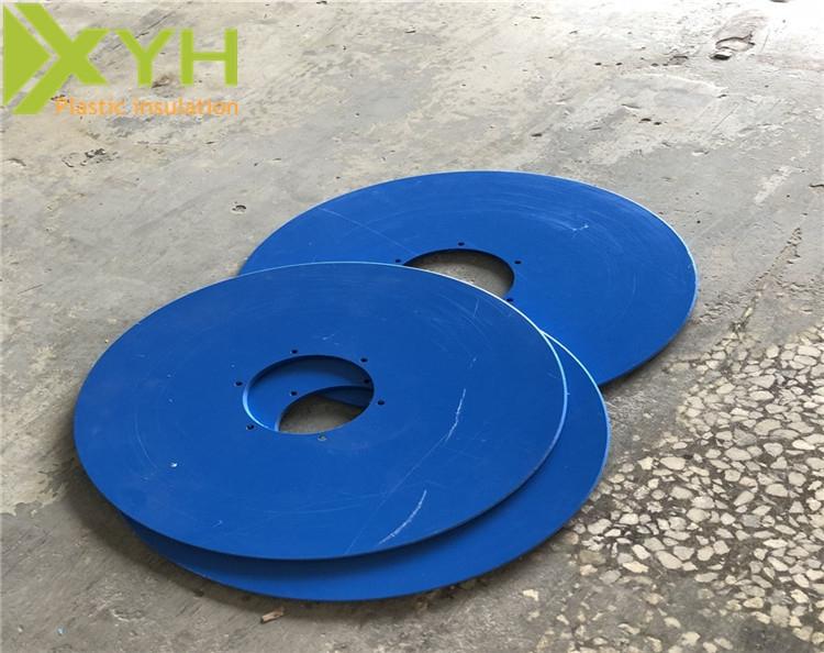 蓝色PVC板材雕刻圆片